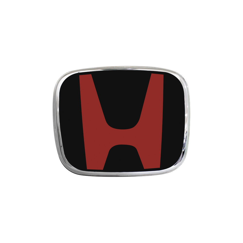 Honda Fit 18-19 Front Red Black H EMBLEM Badge Logo (140mm x 115mm)
