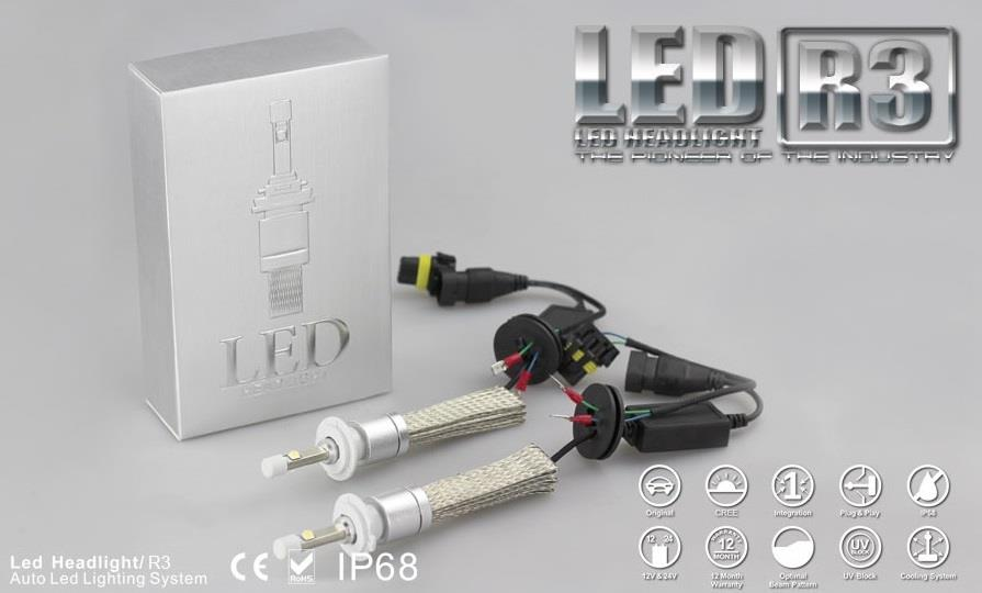 Honda H11 LED 6000K Headlight Kit Low Beam Bulbs.