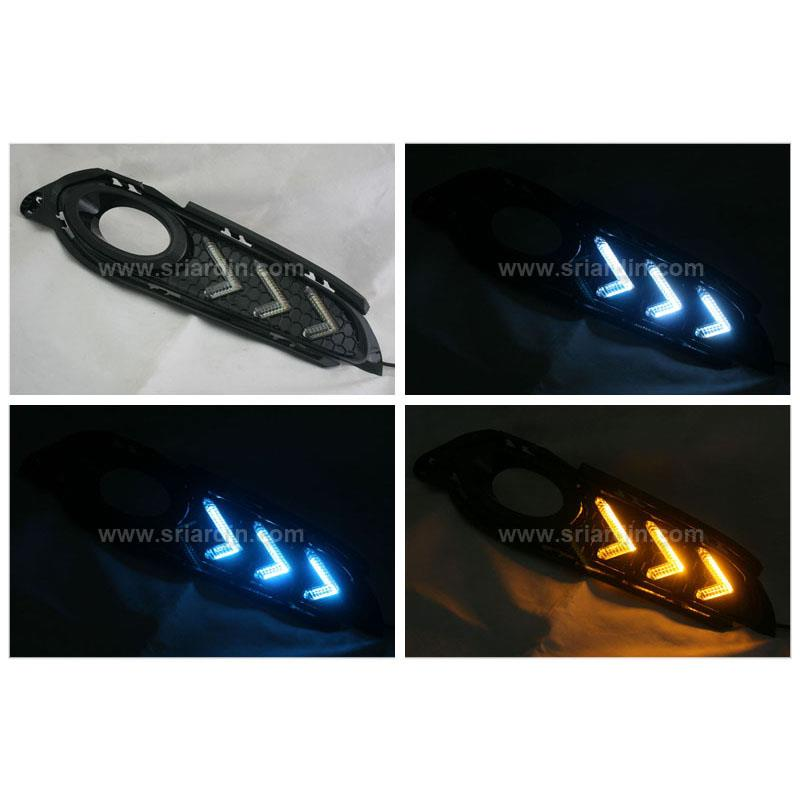 Honda HRV 15- Fog Lamp Cover with LED