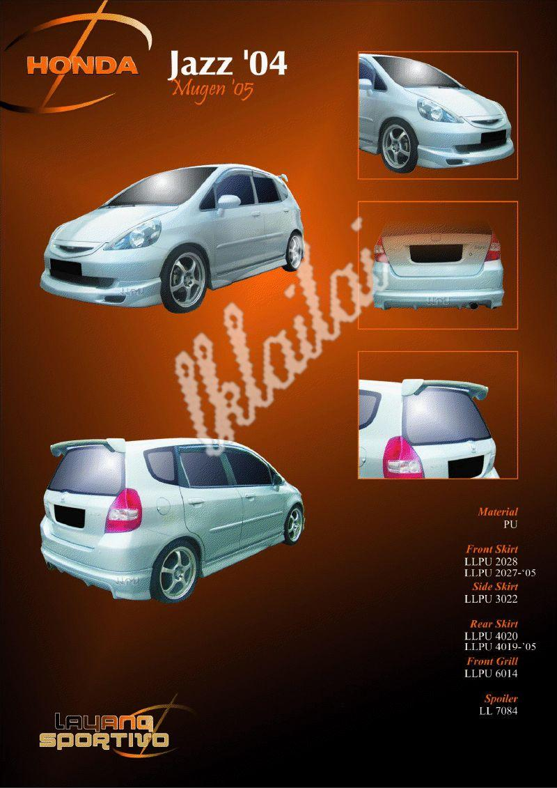 Honda Jazz '04 Mugen Full Set Body Kit [Grill+Front+Side+Rear Skirt]