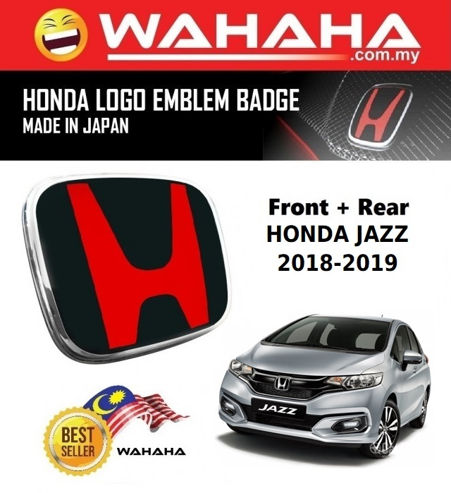 Honda Jazz 2018-2019 Front and Back Red Black H EMBLEM Badge Logo