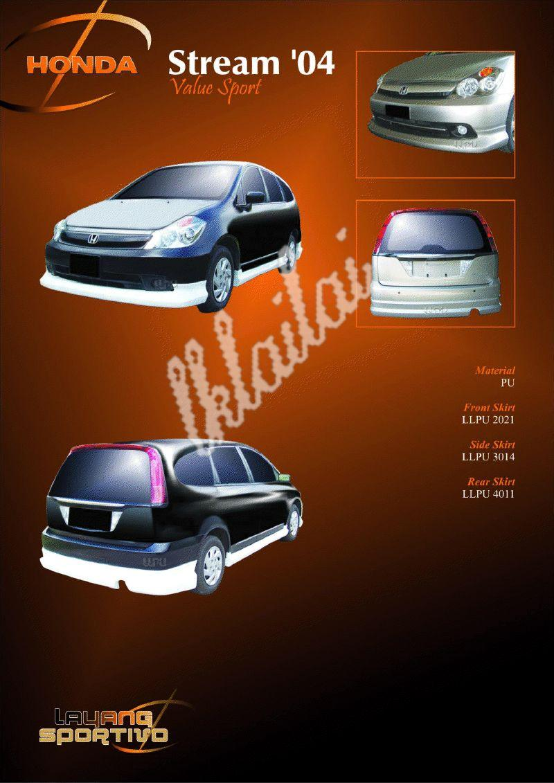 Honda Stream '04 Value Sport PU - Body Kit
