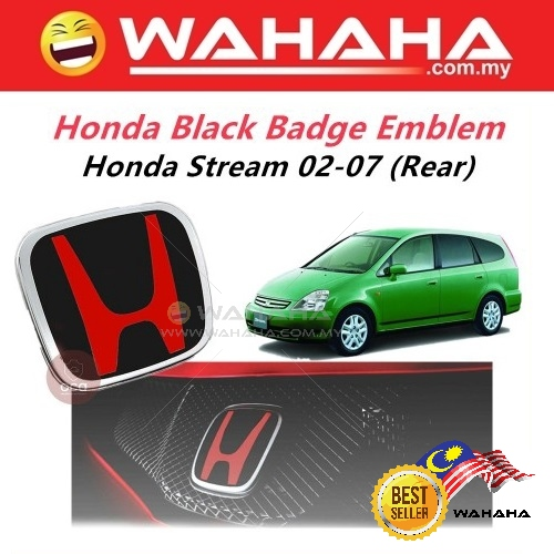 Honda Stream RN3 02-07 Rear Red Black H EMBLEM Badge Logo SNW-J01
