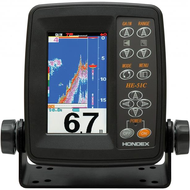 Hondex HE-51 Echo Sounder Fishfinder with 4.3 Inch Screen