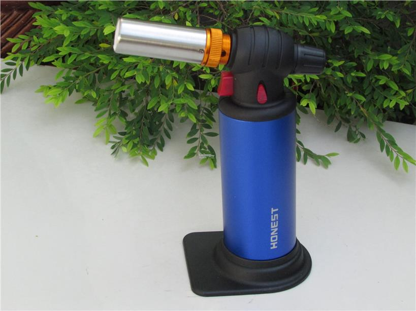 Honest BCH517 Jet Flame Torch 2 Fire Mode Butane Gas Lighter (Blue)
