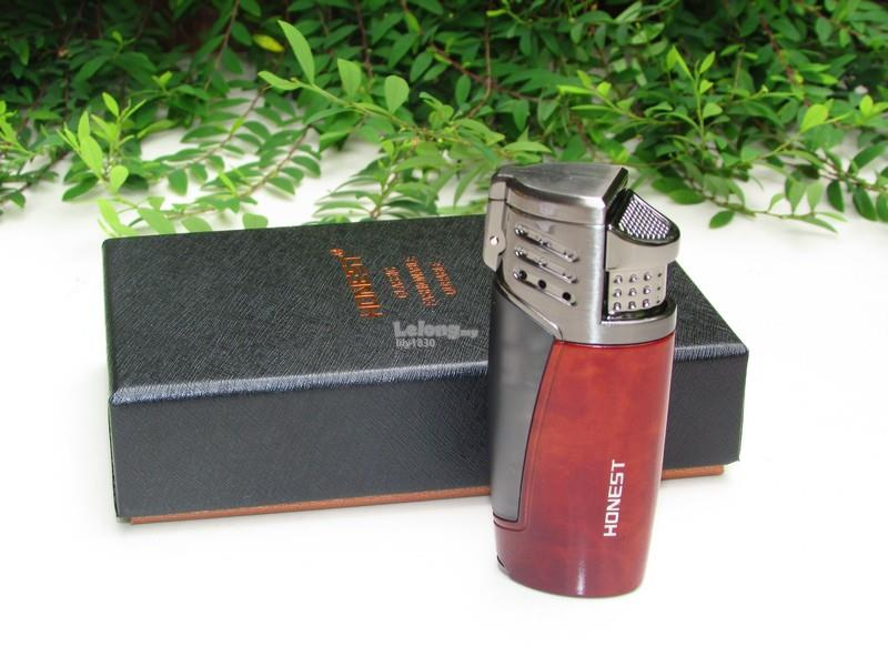 Honest BCZ3032 Jet Flame Windproof Cigarette Cigar Lighter (Brown)