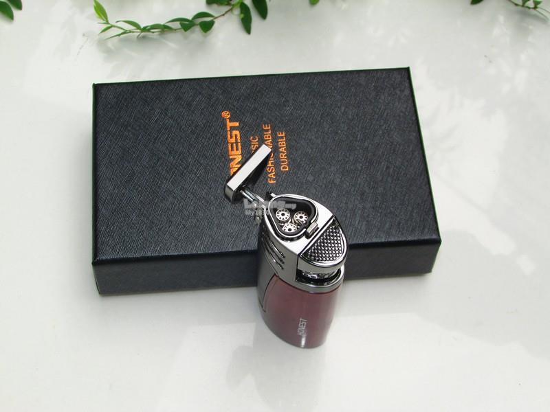Honest BCZ3032 Jet Flame Windproof Cigarette Cigar Lighter (Chocolate)