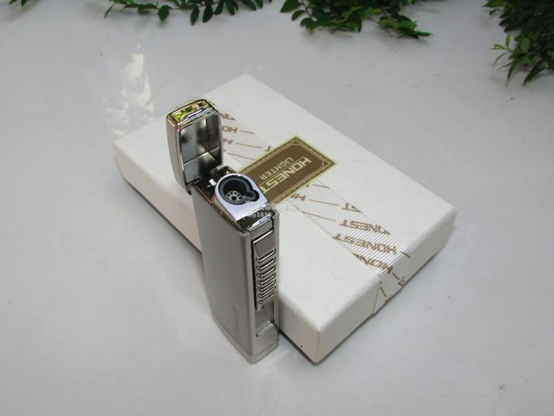 Honest BCZ727-1 Jet Flame Windproof Cigarette Cigar Lighter (Silver)