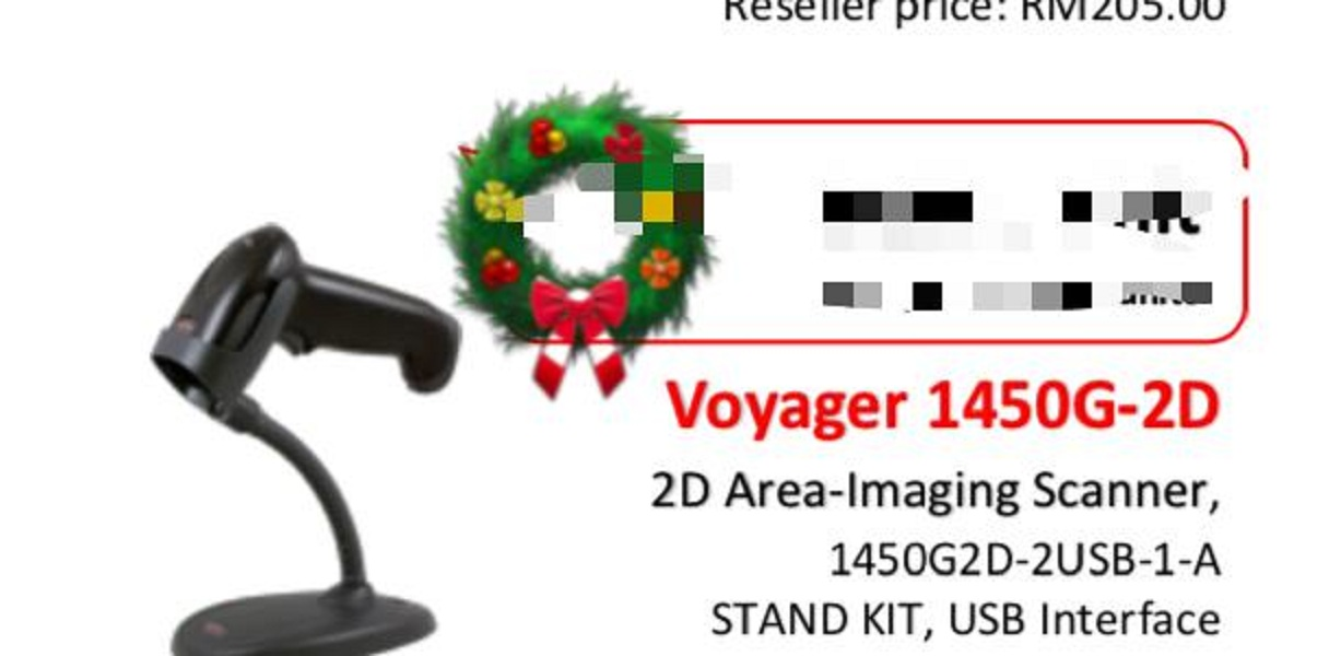 Honeywell Voyager 1450G-2D Barcode Scanner