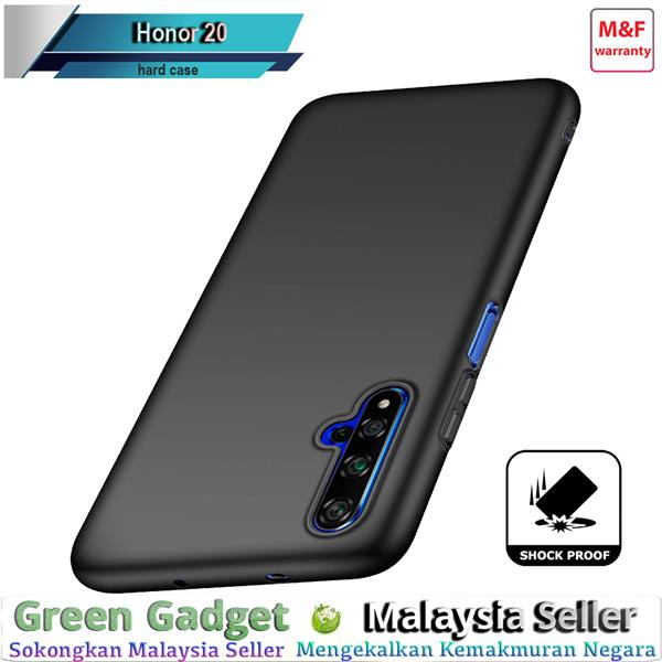 Honor 20 Case Cover Thin Fit Hard 硬壳(Black)