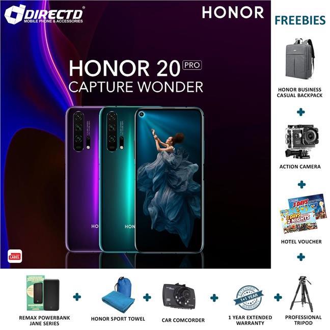 HONOR 20 PRO (8GB RAM/256GB) + 8 FREEBIES + RM300 DISCOUNT😱