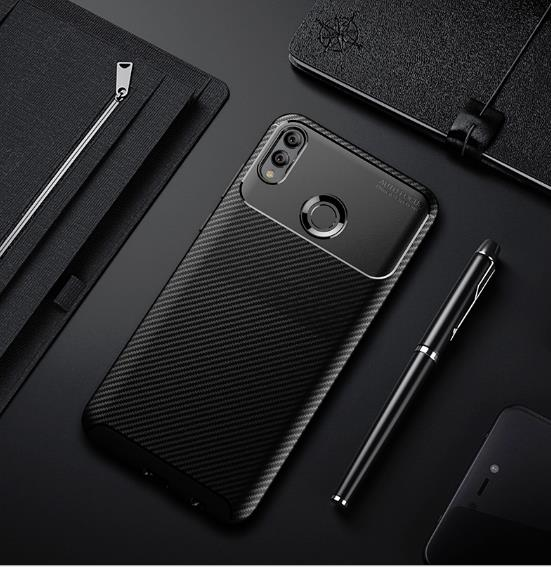 the best attitude 70cd3 045f1 Honor Play Anti Shock Crash Proof Carbon Texture Armor Case Cover
