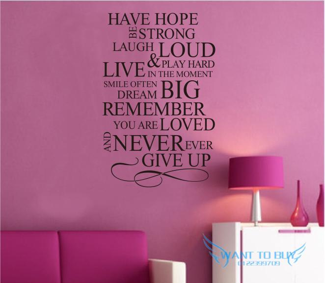 Wall Sticker Quotes And Saying Decals Wallpaper Home Deco Part 72