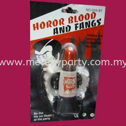 Horror Blood and Fangs