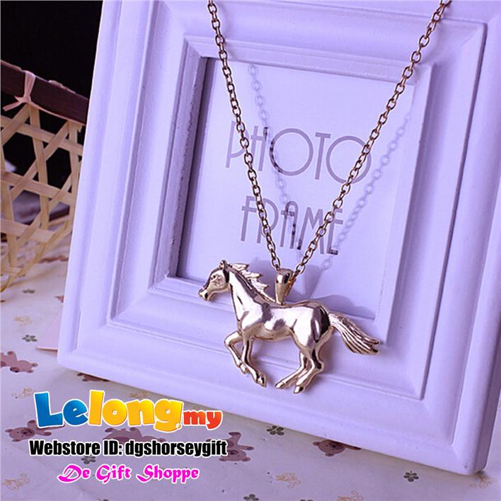 Horse Necklaces Gold