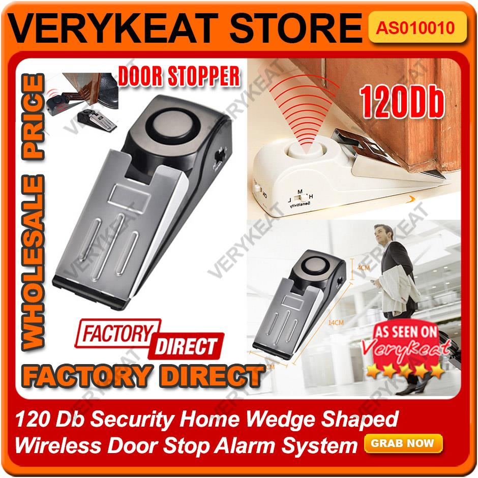 Hot 120db Wireless Home Travel Security Safety Door Stop Stopper Alarm