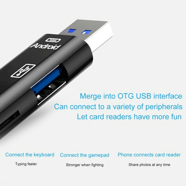 HOT 5 in 1 USB 3.0 Type C / USB / Micro USB SD TF Memory Card Reader O
