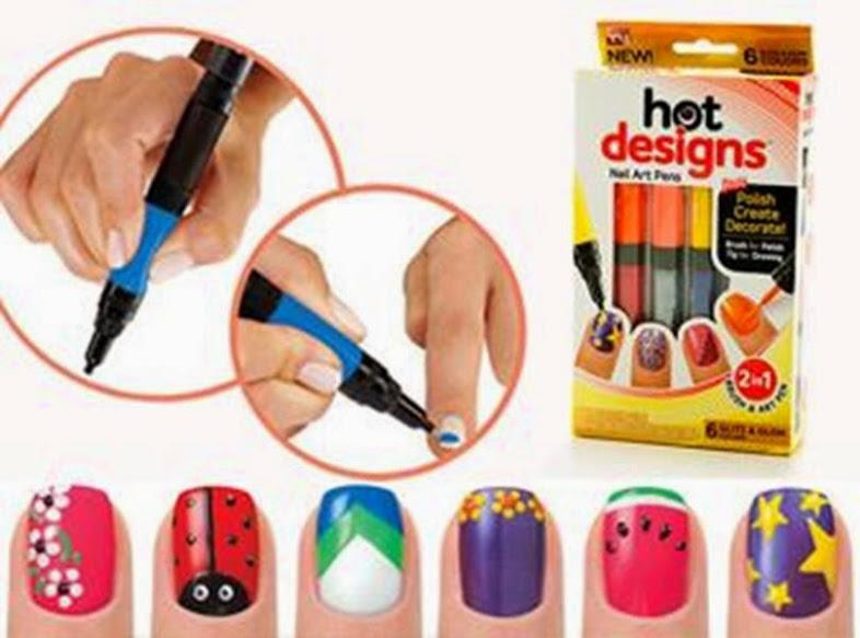 Hot Designs Nail Art Pen As Seen On Tv 2 In 1 Brush Set