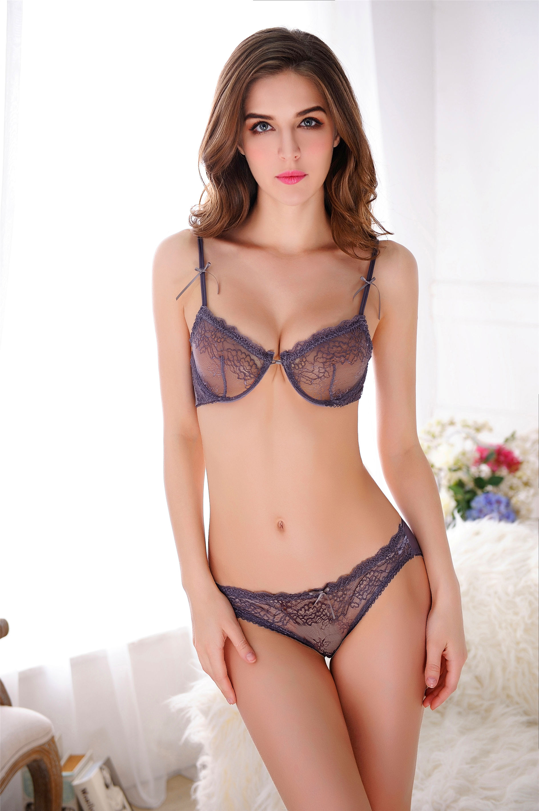 f9961aa8d4 HOT LACED BRA SET (GRAY) (end 4 24 2020 9 13 PM)