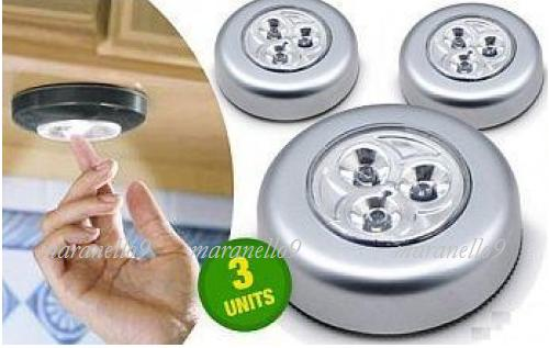 HOT: Quick & Easy Light, Anywhere! Set-of- 3 Portable Touch LED lights