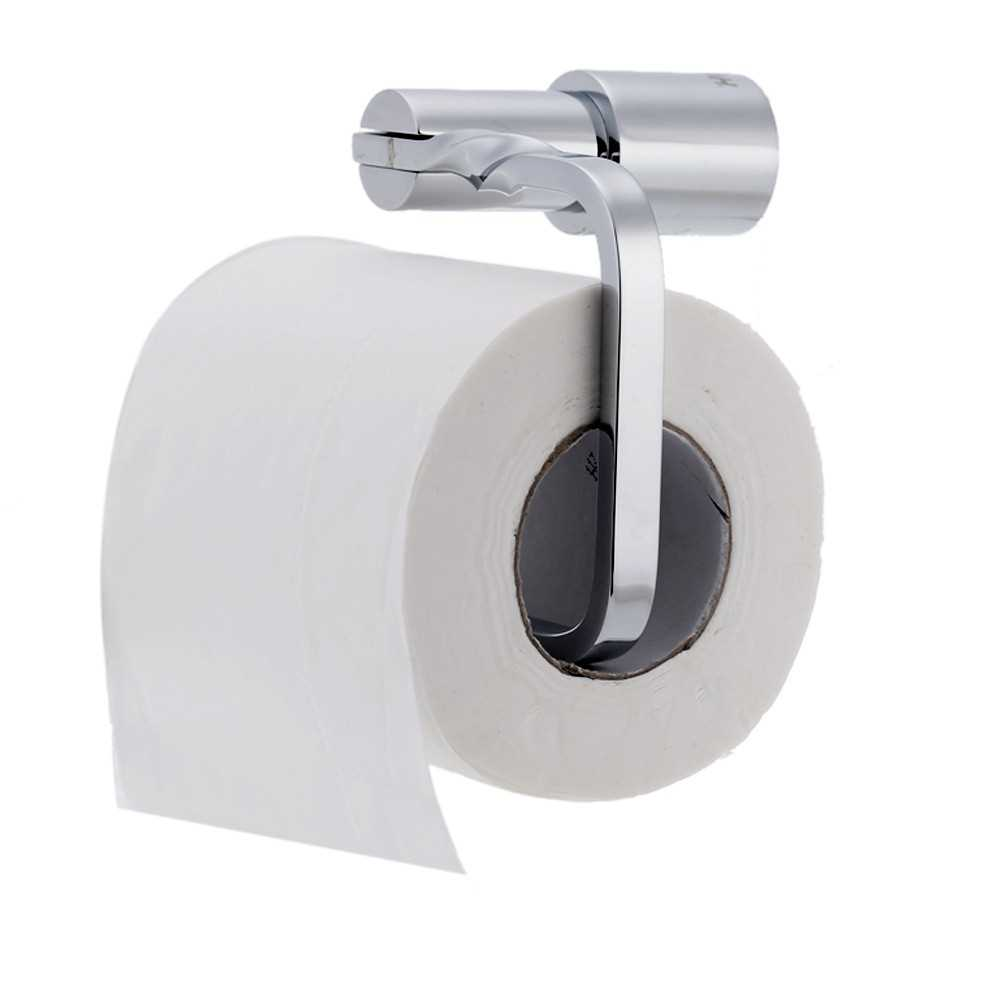 Hot Sale All-copper Chromed Toilet Paper Holder Wall-Mounted Bathroom Tissue R