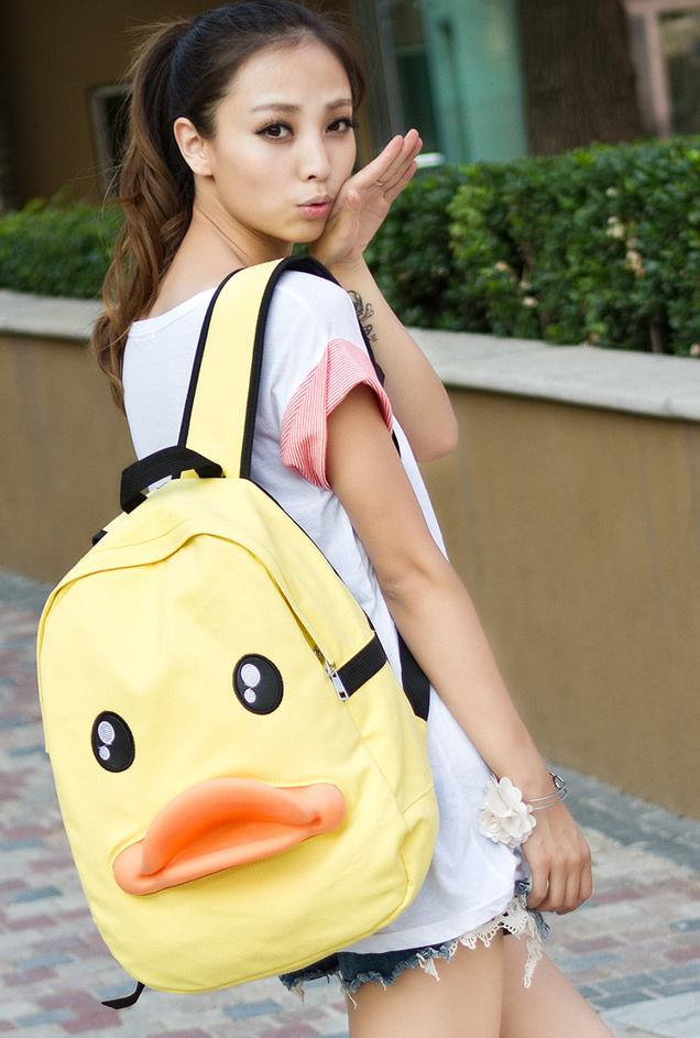 Hot Sale~ Cute Duck Backpack 15475 (Yellow)