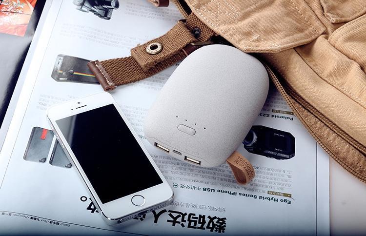 Hot Sales Cute Pebble Stone Power Bank/ Portable Battery 10400mah