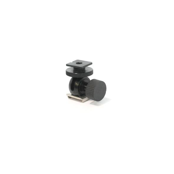 Hot Shoe Mount Adapter to Hot Shoe with 1/4'' Thread-hole