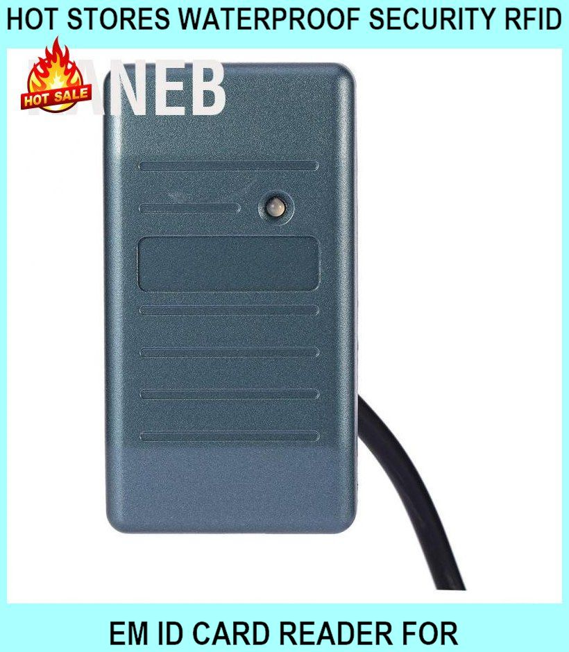 Hot Stores Waterproof Security RFID Em Id Card Reader For Wiegand 26/3