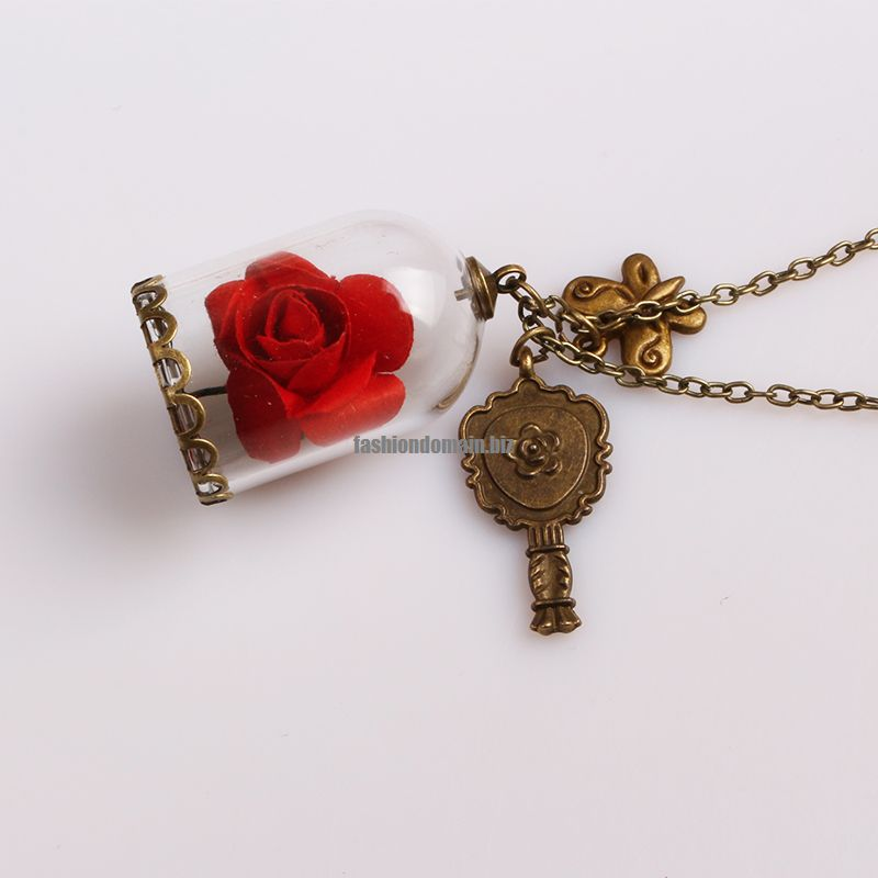 beast valentines necklace snatched and the products her terrarium necklaces his last rose fairy beauty pendant day in