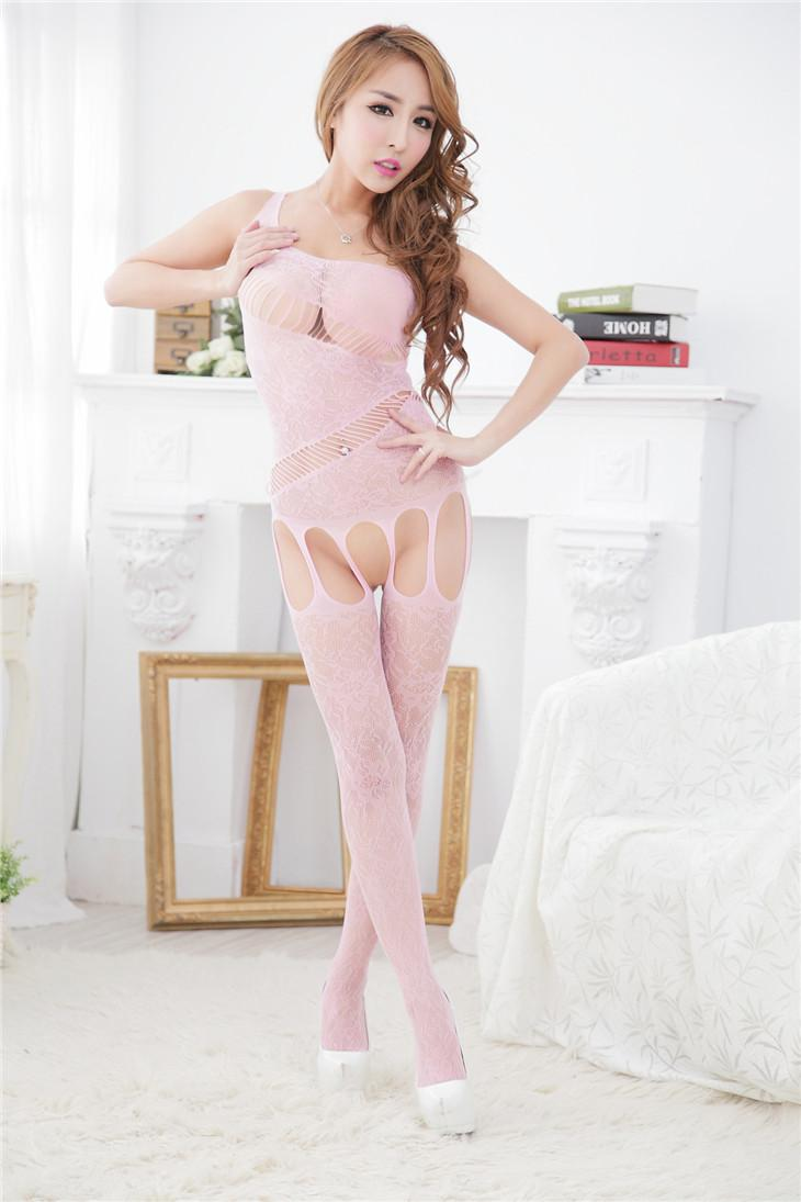 Hot Temptation Passion One-Pcs Fishnet Stocking (Pink)