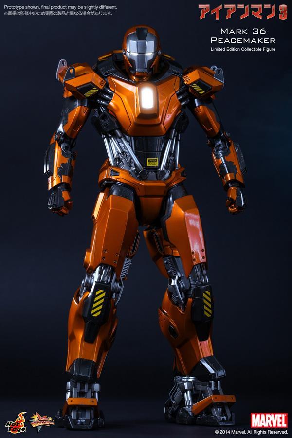Iron Man Mark 36 ~ Hot toys iron man mark peace end  am
