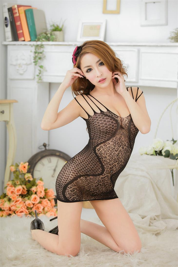 Hot~Transparent Sexy Net Clothes (Black)