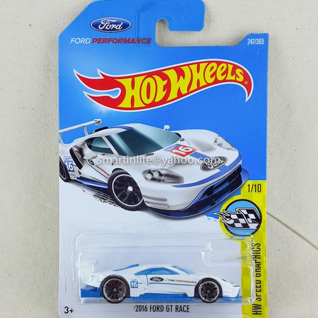 Hot Wheels  Ford Gt Race White