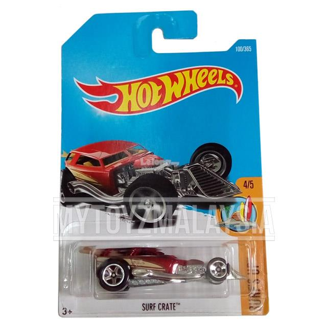 Hot Wheels 2017 Surf's Up Surf Crate (red)