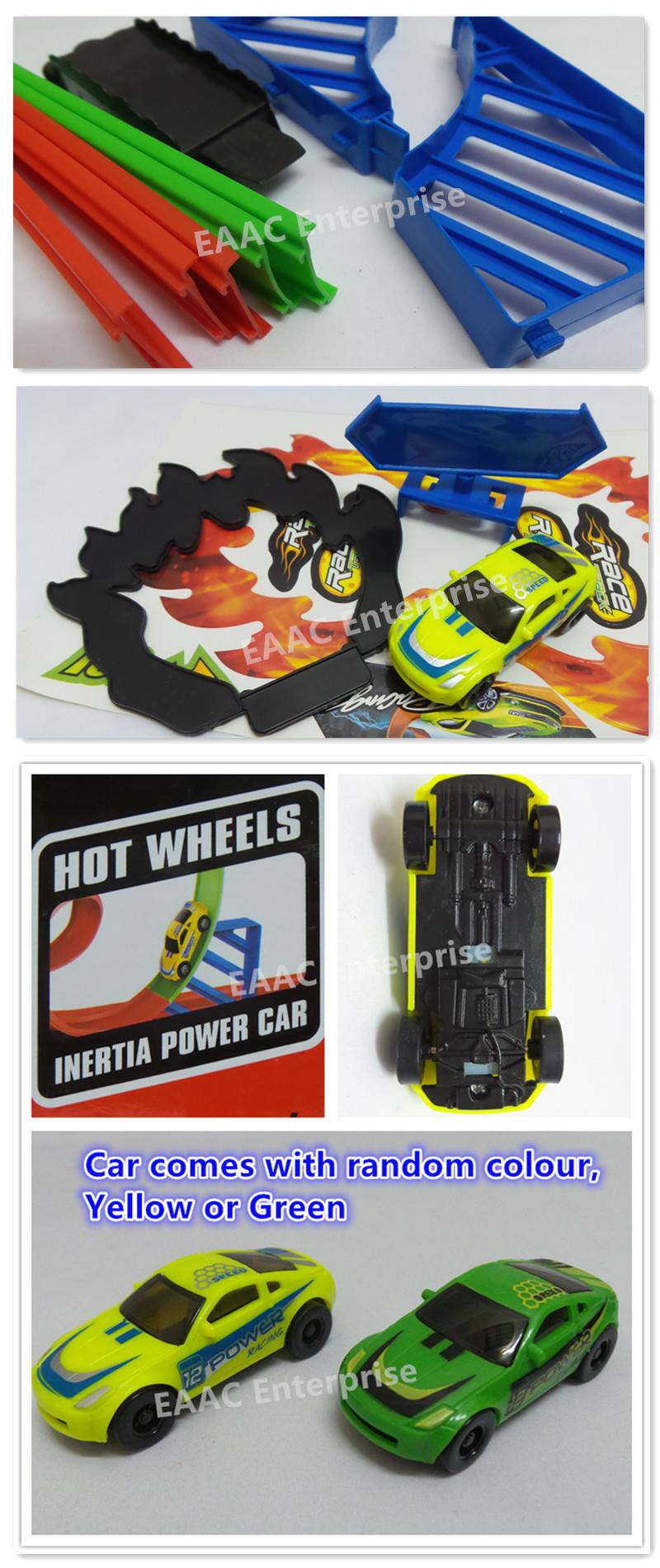 Hot Wheels 360 degree 4 Loop Powerful Spin Track + A Inertia Power Car