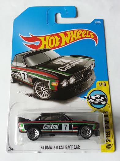 Hot Wheels Cast Bmw 3 0 Csl Race Car Castrol New