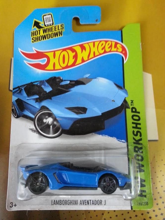 hot wheels diecast lamborghini aventador j blue new