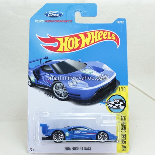 Hot Wheels Ford Gt Race Blue