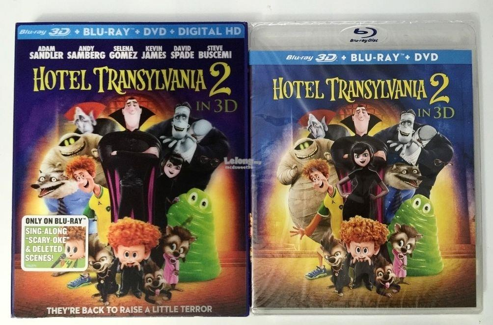 NEW HOTEL TRANSYLVANIA 2 3D BLU RAY DVD DIGITAL HD 3 DISC