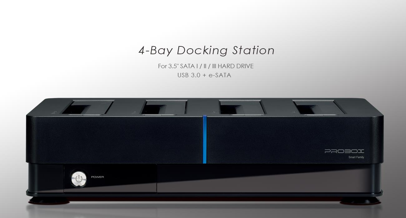# HOTWAY HFD1-SU3S3 - 4-BAY 2.5/3.5 HDD Docking Station # USB3.0