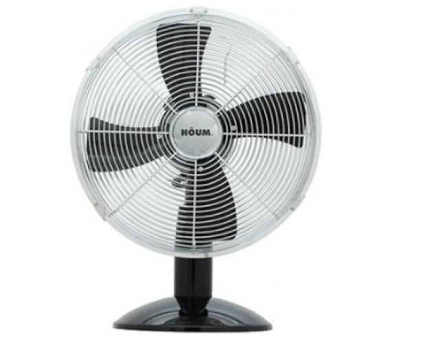 HOUM 12' Metal Desk Fan (4 Metal Blades,3speed) R12 BLACK