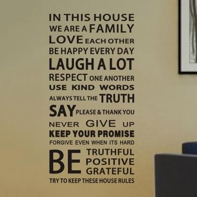In This House Wall Sticker Diy Remov End 1062019 515 Pm