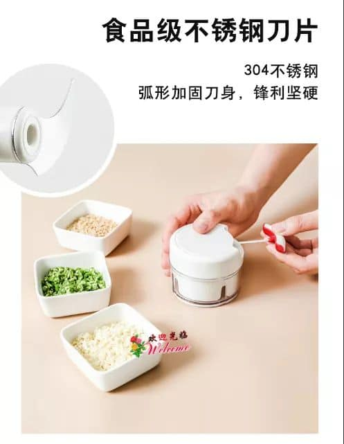 Household mini garlic paste small manual vegetable cutter 迷你蒜泥器