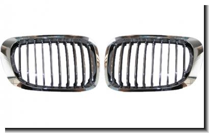 HOWELL BMW 3 Series E46 `98-`04 2D Front Grille Chrome [ BM02-FG06-U]