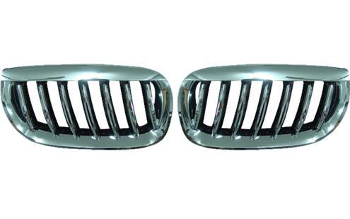 HOWELL BMW X3 E83 `05 Front Grille Chrome [BM20-FG01-U]