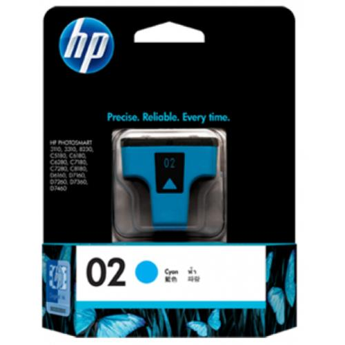 HP 02 Cyan Ink Cartridge (C8771WA)