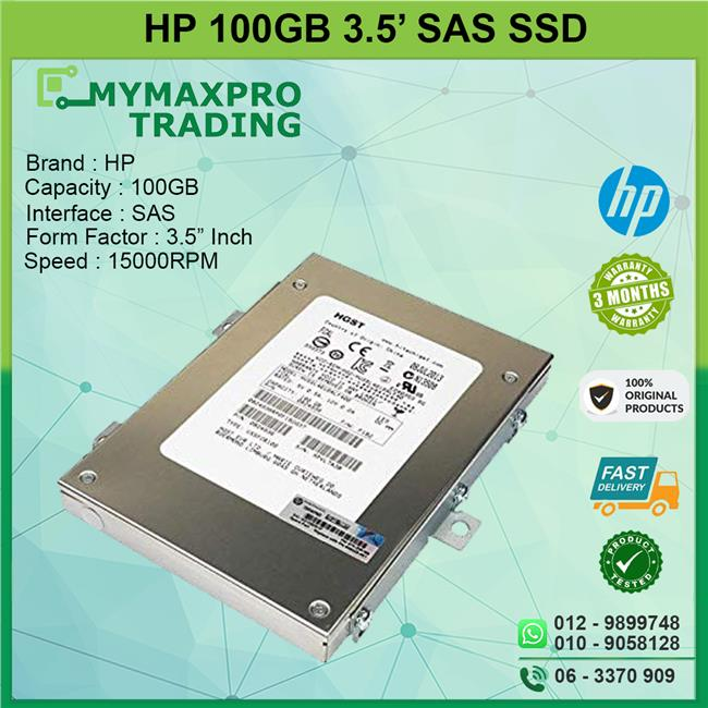 HP 100GB 15kRPM 3.5' SAS SLC SSD 5697-2160