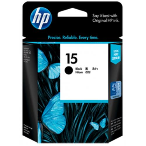 HP 15 Black Inkjet Print Cartridge (C6615DA)