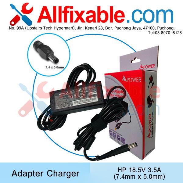 HP 18 5v 3 5a(7 4x5 0) CQ40 CQ41 CQ42 DV4 DM3-3000 G42 Adapter Charger